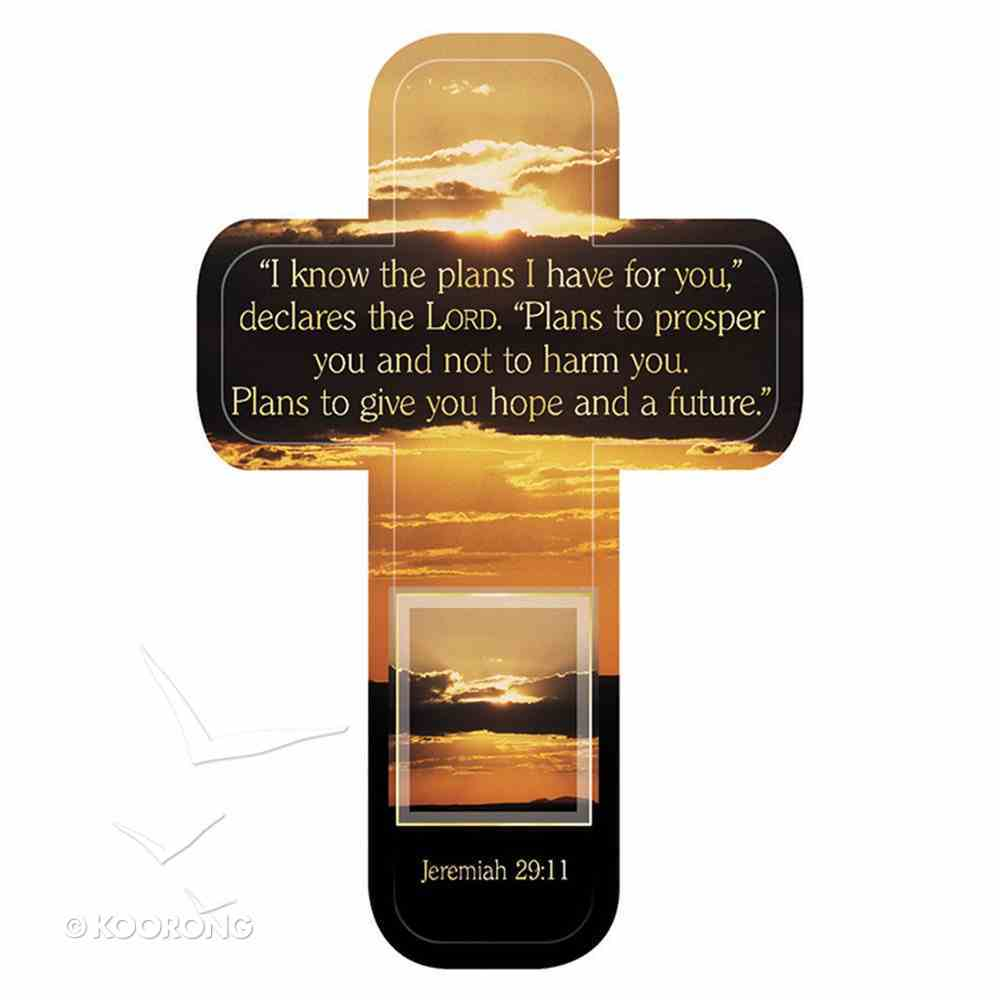 Bookmark Cross-Shaped: I Know the Plans I Have For You..... Jeremiah 29:11 Sunrise Stationery