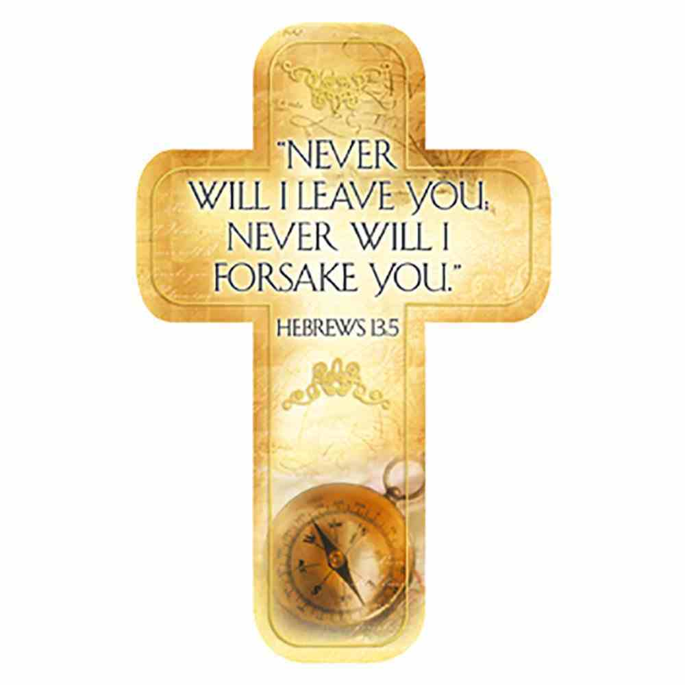 Bookmark Cross-Shaped: Never Will I Leave You.... Hebrews 13:5 Stationery