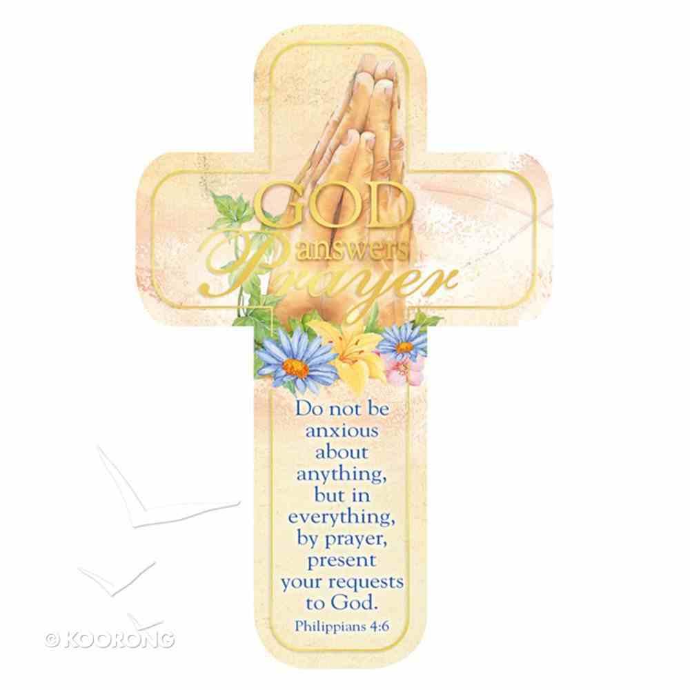 Bookmark Cross-Shaped: God Answers Prayer Stationery