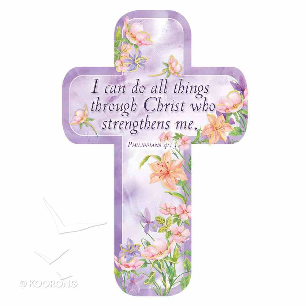Bookmark Cross-Shaped: I Can Do All Things Through Christ Who Strengthens Me Stationery