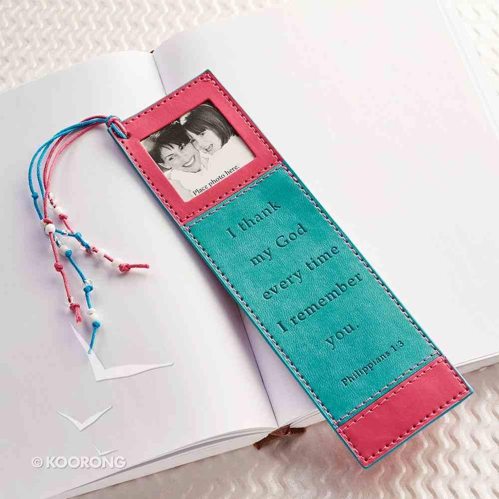 Bookmark With Photo Frame: Philippians 1:3 Luxleather Imitation Leather