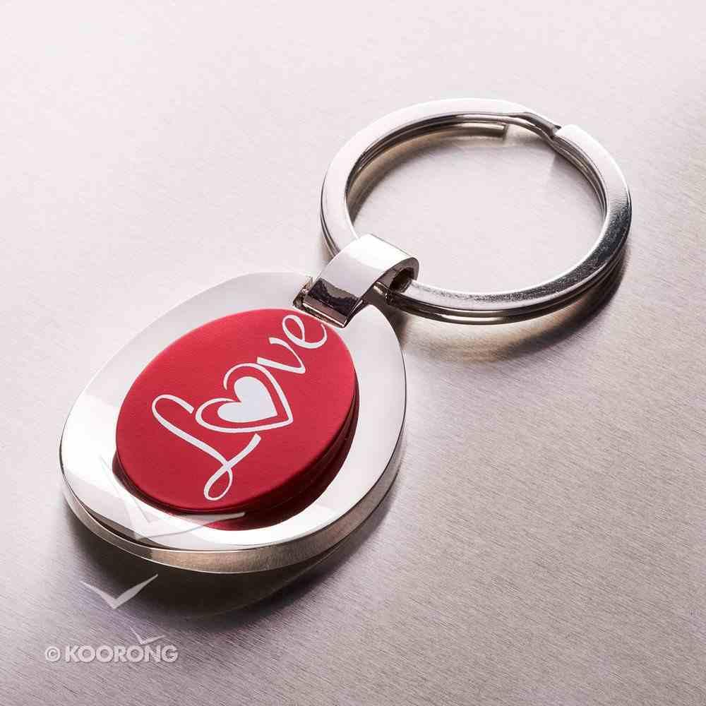 Metal Keyring: Red Love Jewellery