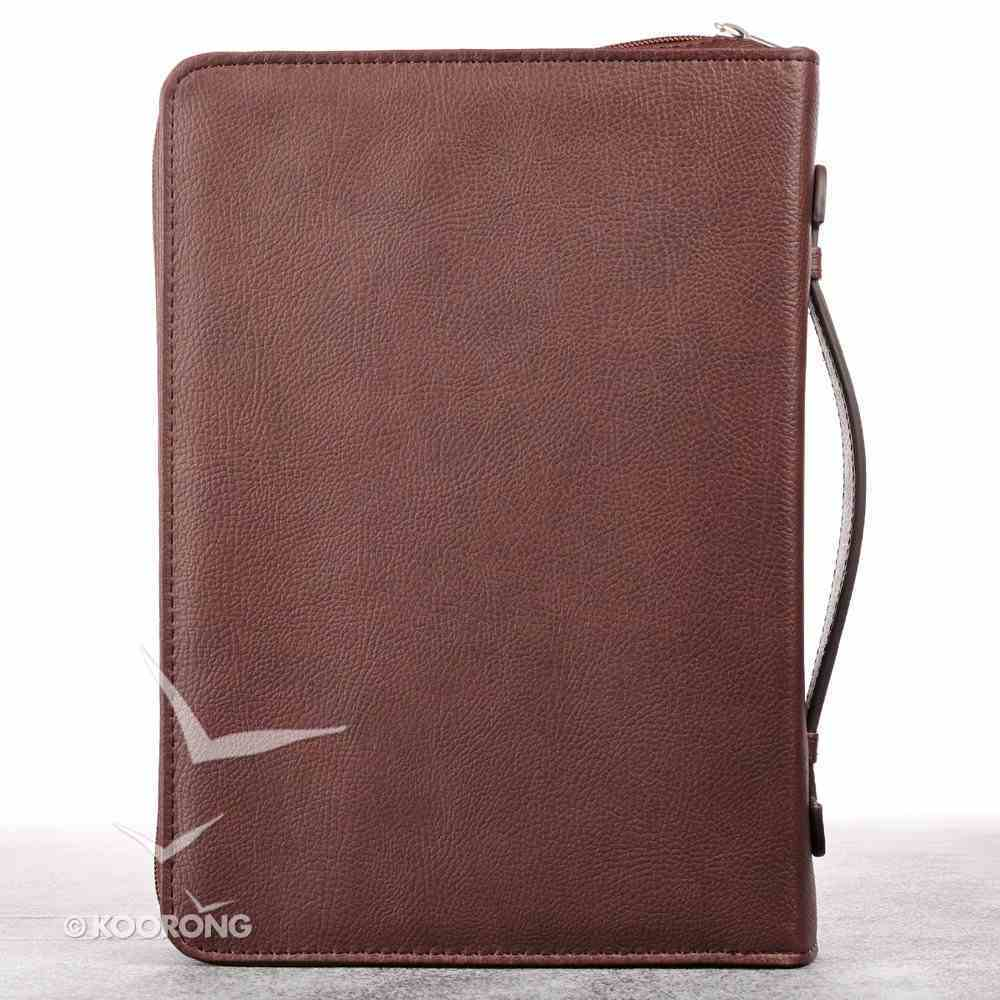 Bible Cover Names of Jesus Large Burgundy Two-Tone Luxleather Imitation Leather