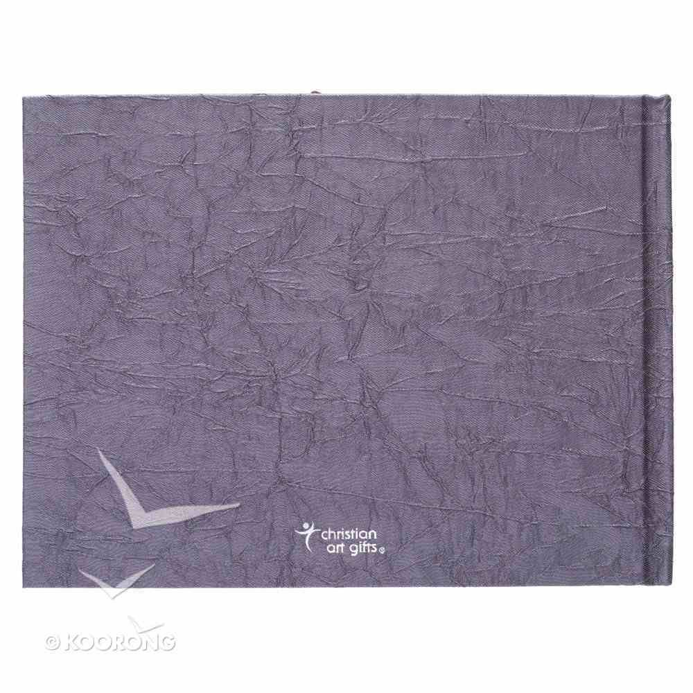 Guest Book: In Loving Memory, Crinkled Charcoal Fabric Over Hardback