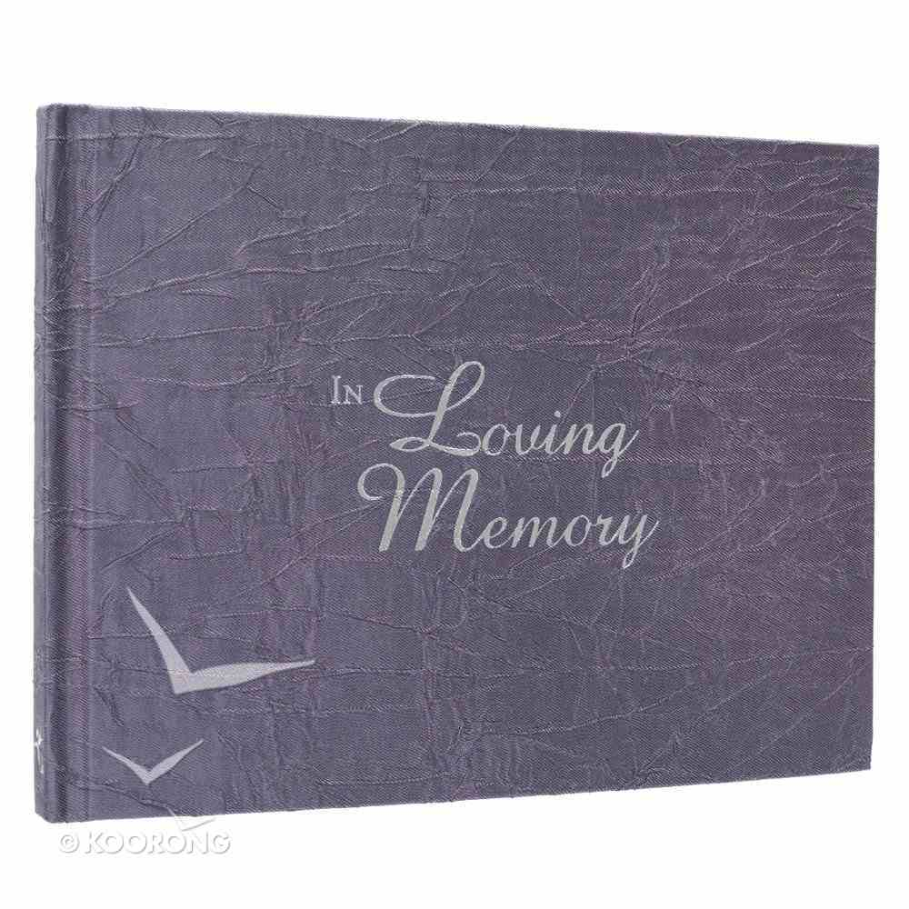 Guest Book: In Loving Memory (Material Cover Crinkled Charcoal) Stationery
