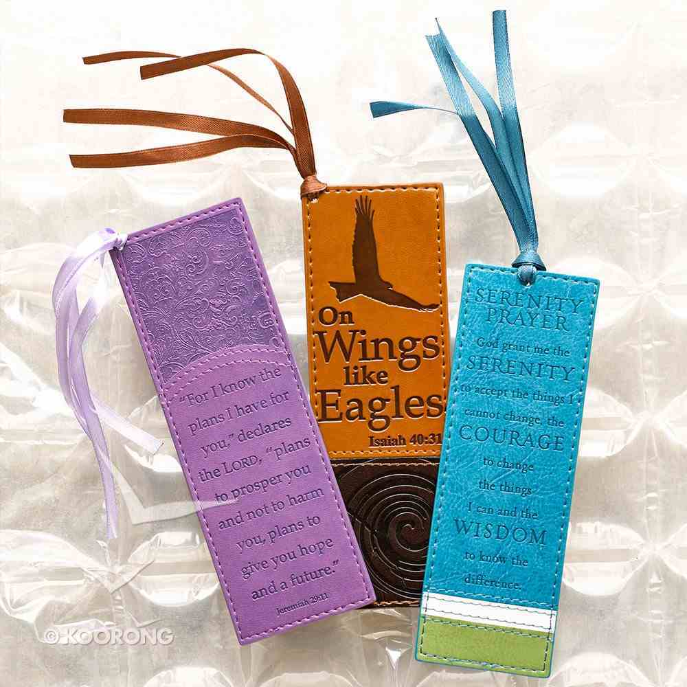 Bookmark: On Wings Like Eagles Luxleather Imitation Leather