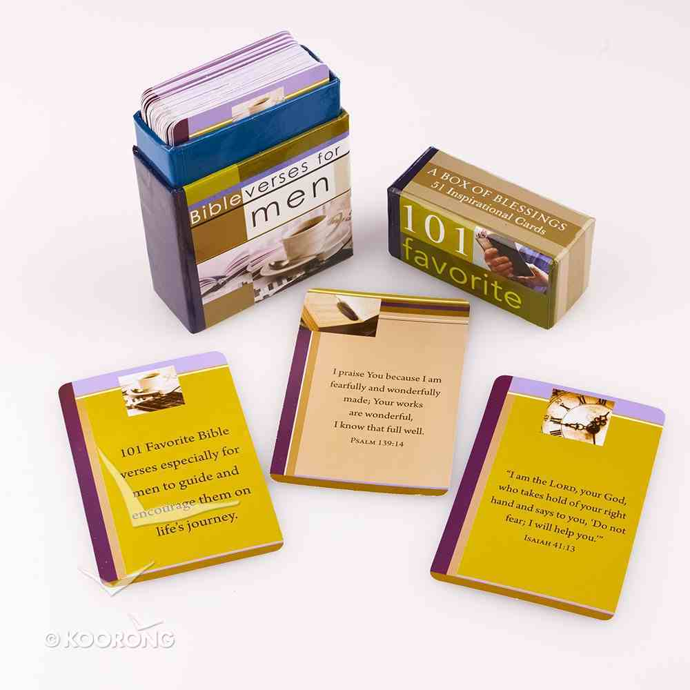 Box of Blessings: 101 Favourite Bible Verses For Men Box