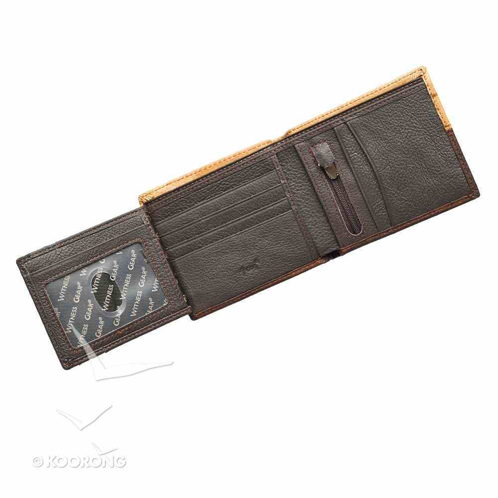 Mens Genuine Leather Wallet Tan/Brown: Cross Soft Goods