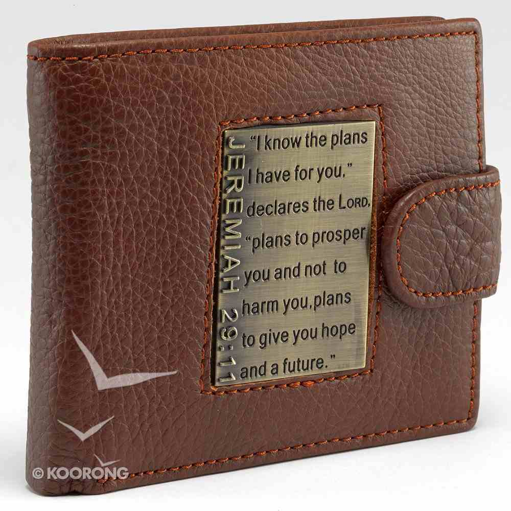 Mens Genuine Leather Wallet Brown: I Know the Plans Soft Goods