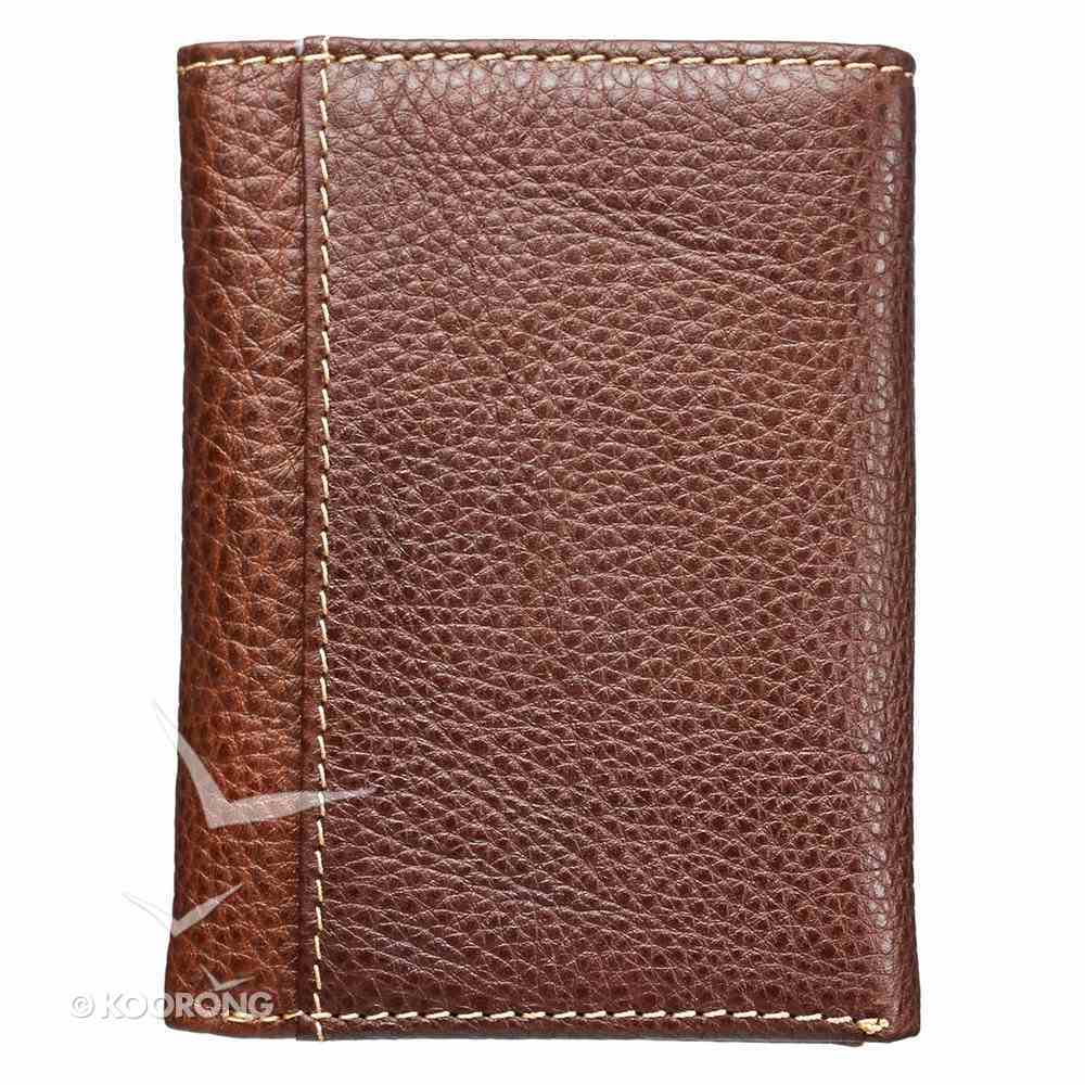 Mens Genuine Leather Wallet: Jesus Cross Soft Goods