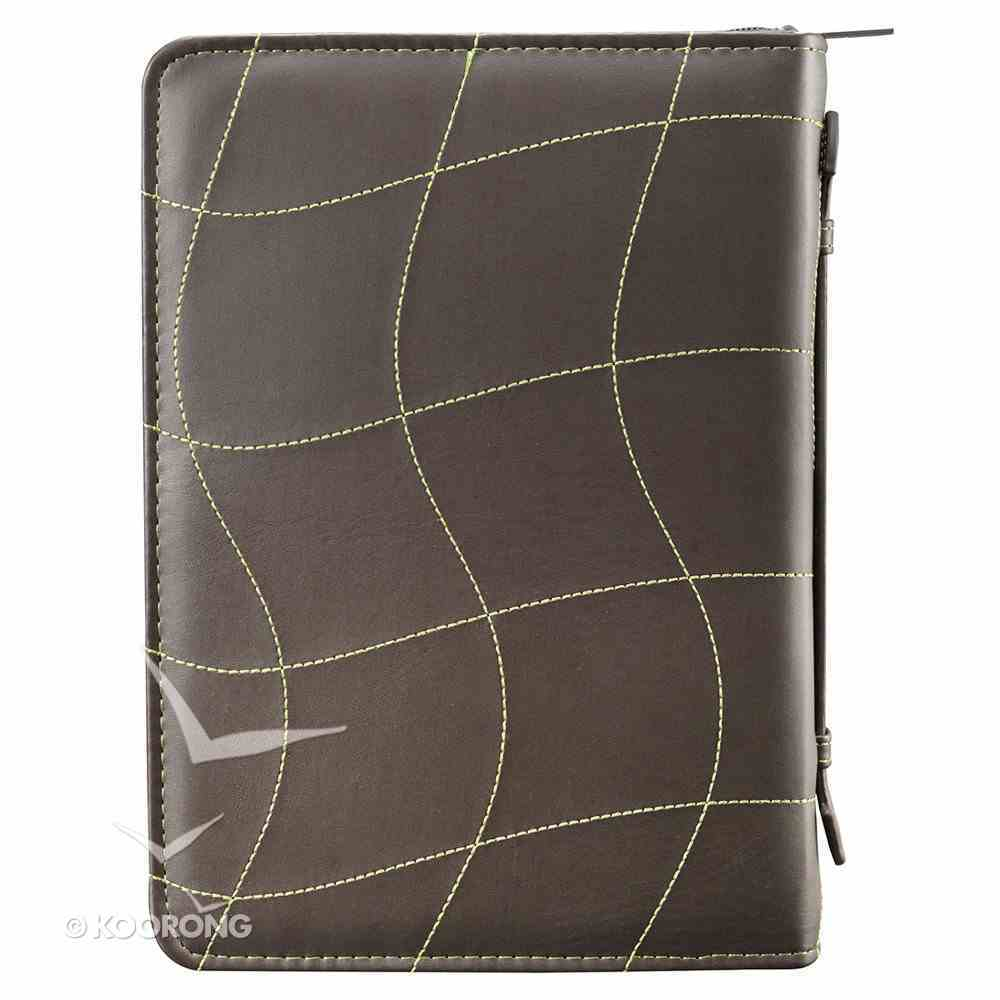Bible Cover Medium: Faith Green/Brown Hebrews 11:1 Luxleather Imitation Leather