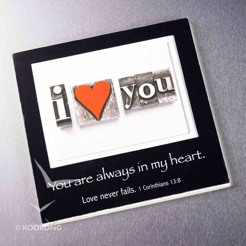 Magnetic Picture Frame: I Love You Novelty