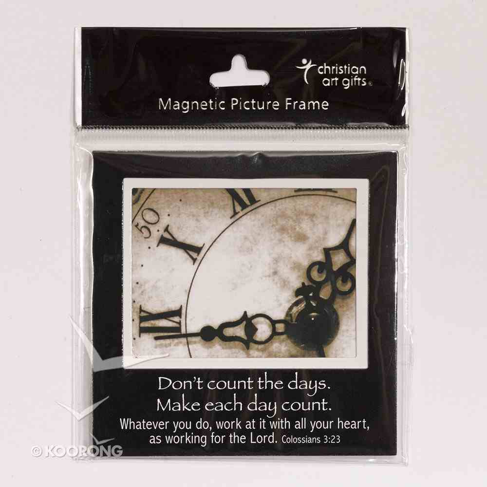 Magnetic Picture Frame: Clock Novelty