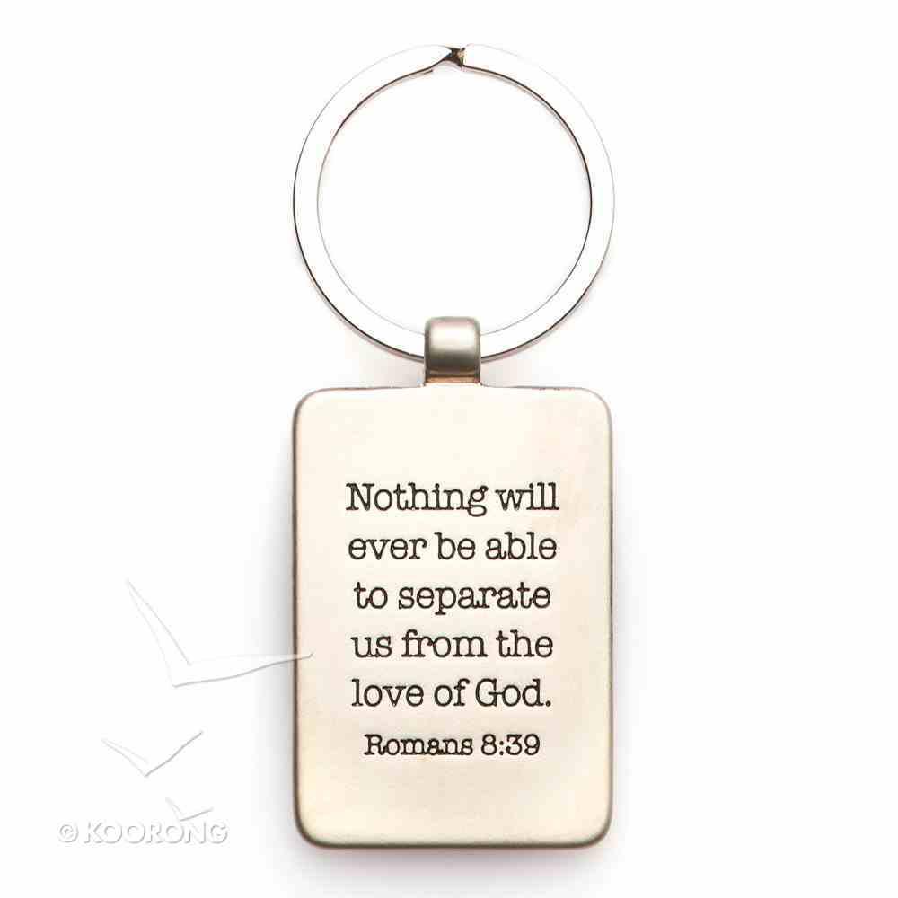 Metal Keyring: Cross, God So Loved the World Jewellery