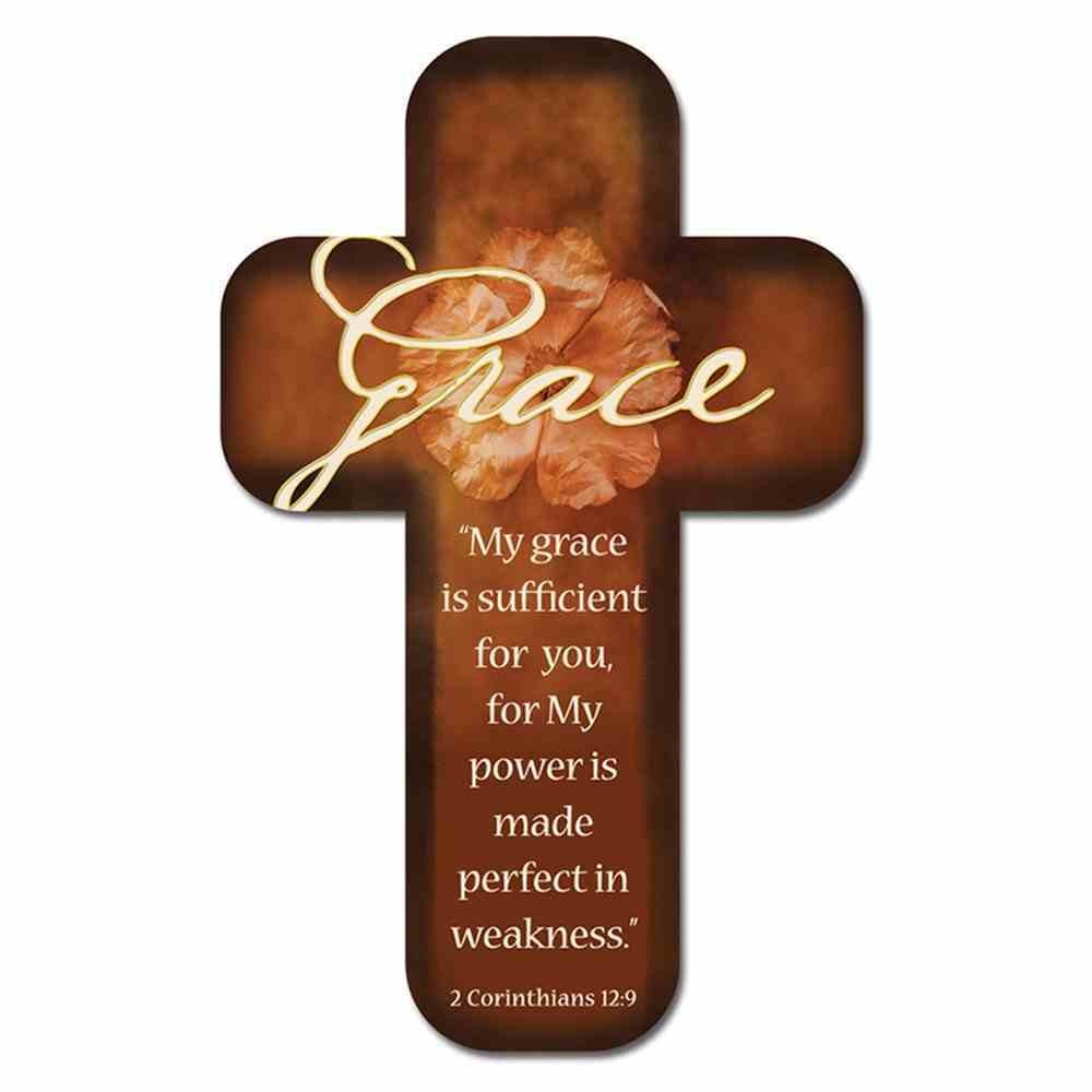 Bookmark Cross-Shaped: Grace.... 2 Corinthians 12:9 Stationery