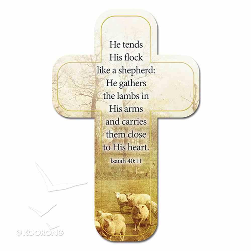 Bookmark Cross-Shaped: He Tends His Flock Like a Shepherd.... Isaiah 40:11 Stationery