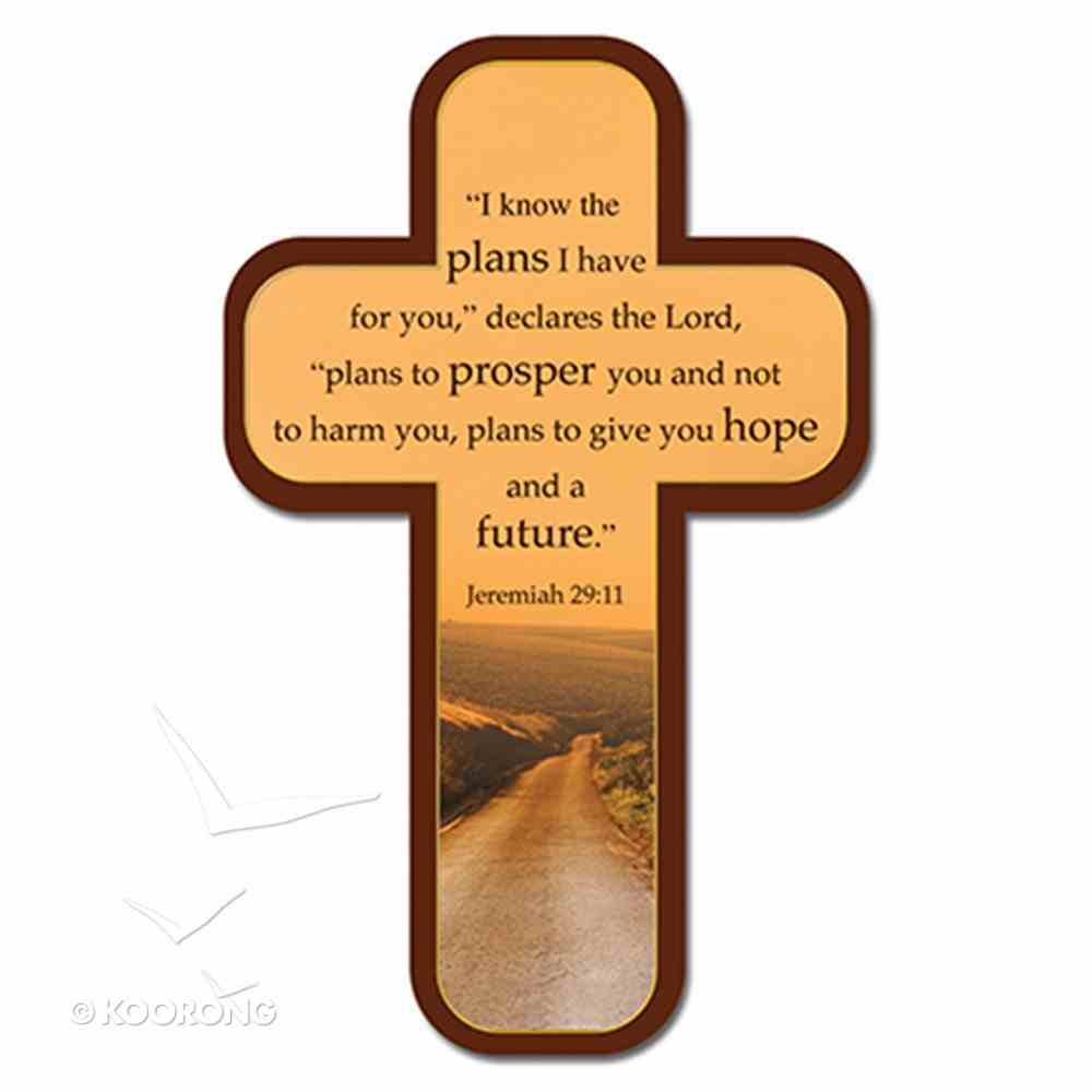 Bookmark Cross-Shaped: I Know the Plans I Have For You...Jeremiah 29:11 (Long Road Ahead) Stationery