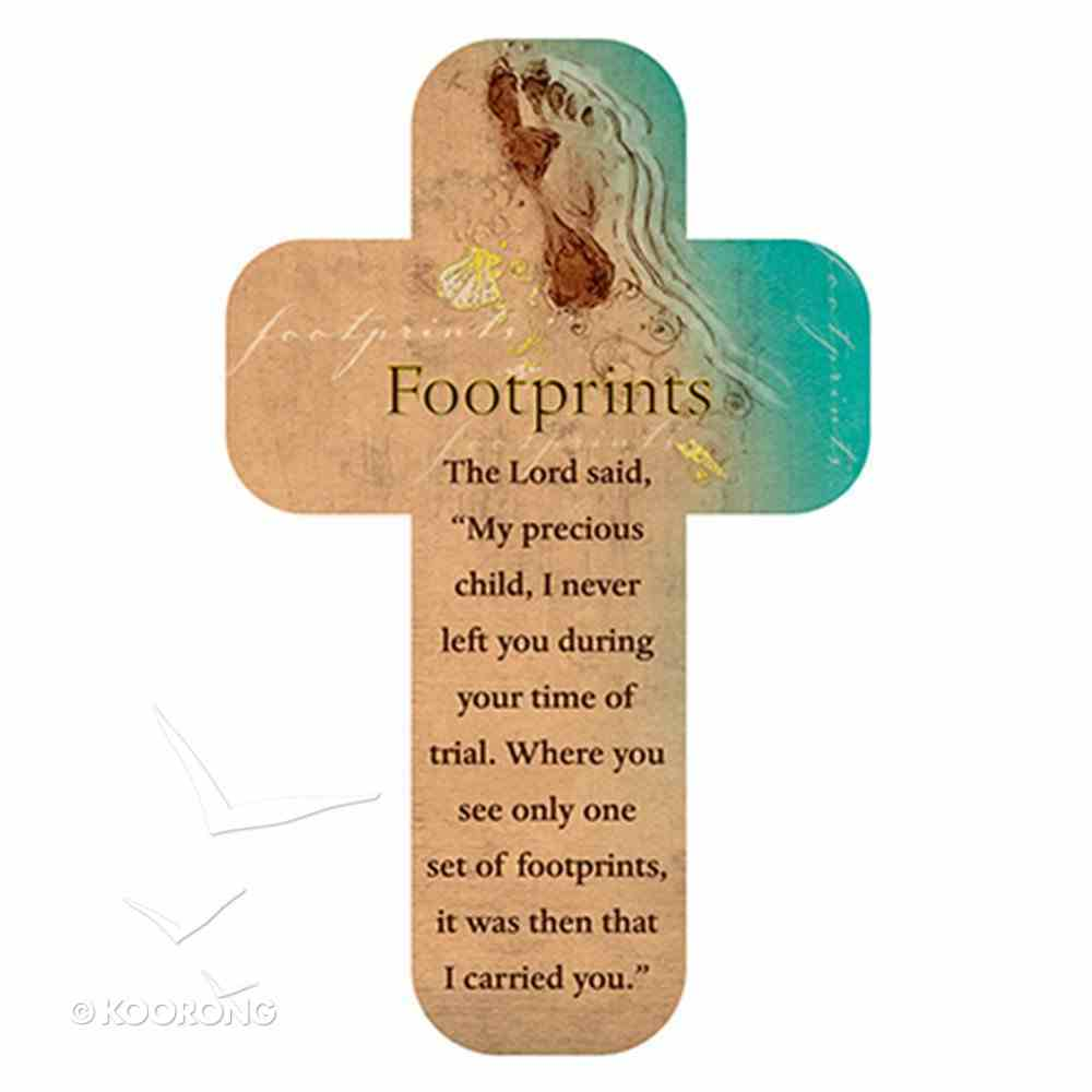Bookmark Cross-Shaped: Footprints, Beach Scene Stationery