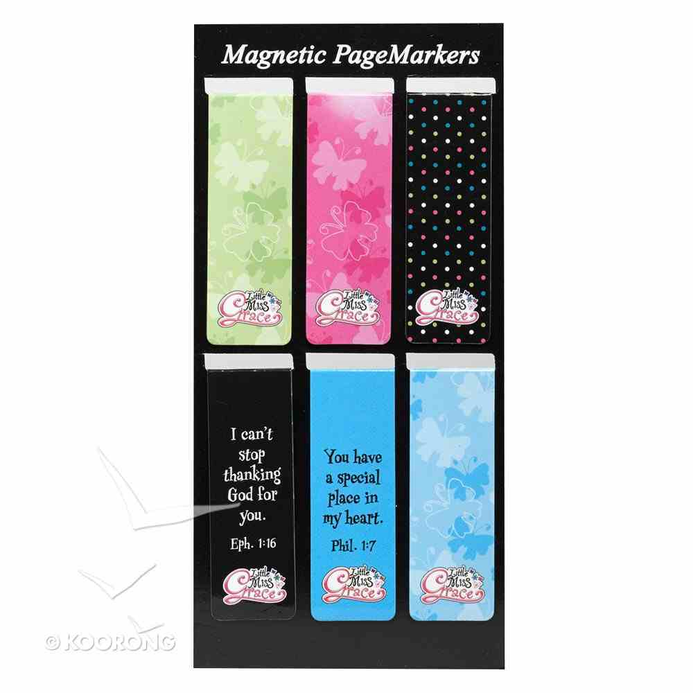 Bookmark Magnetic: Little Miss Grace #01 (Set Of 6) Stationery