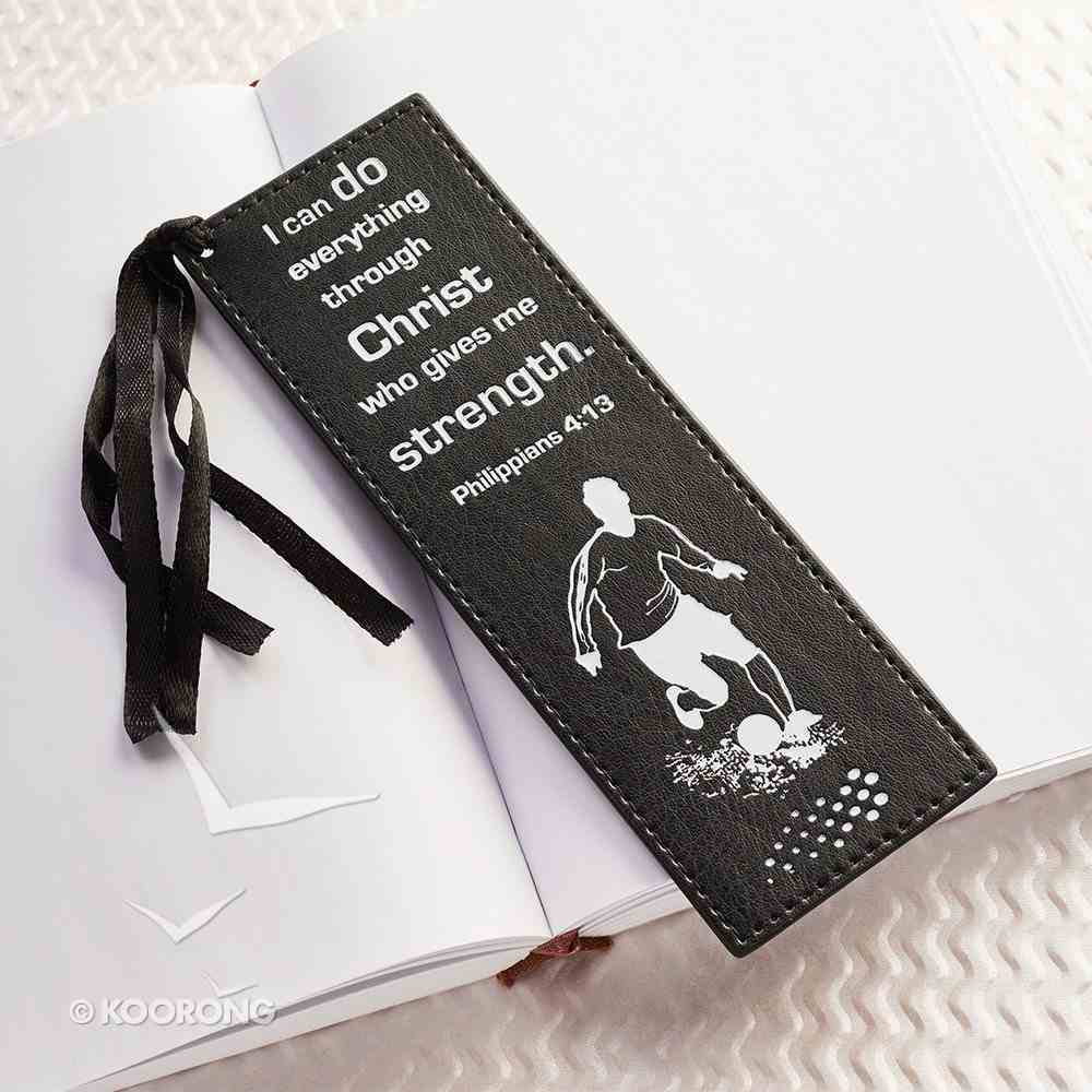 Bookmark: I Can Do Everything Through Christ Black & White Luxleather Imitation Leather