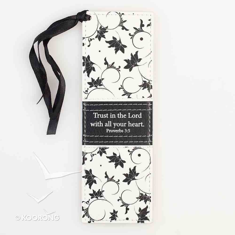 Bookmark: Trust in the Lord With All Your Heart Luxleather Imitation Leather