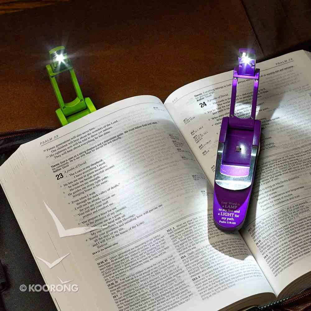 Hydraulic Pop Up Book Light: Your Word is a Lamp, Purple Homeware