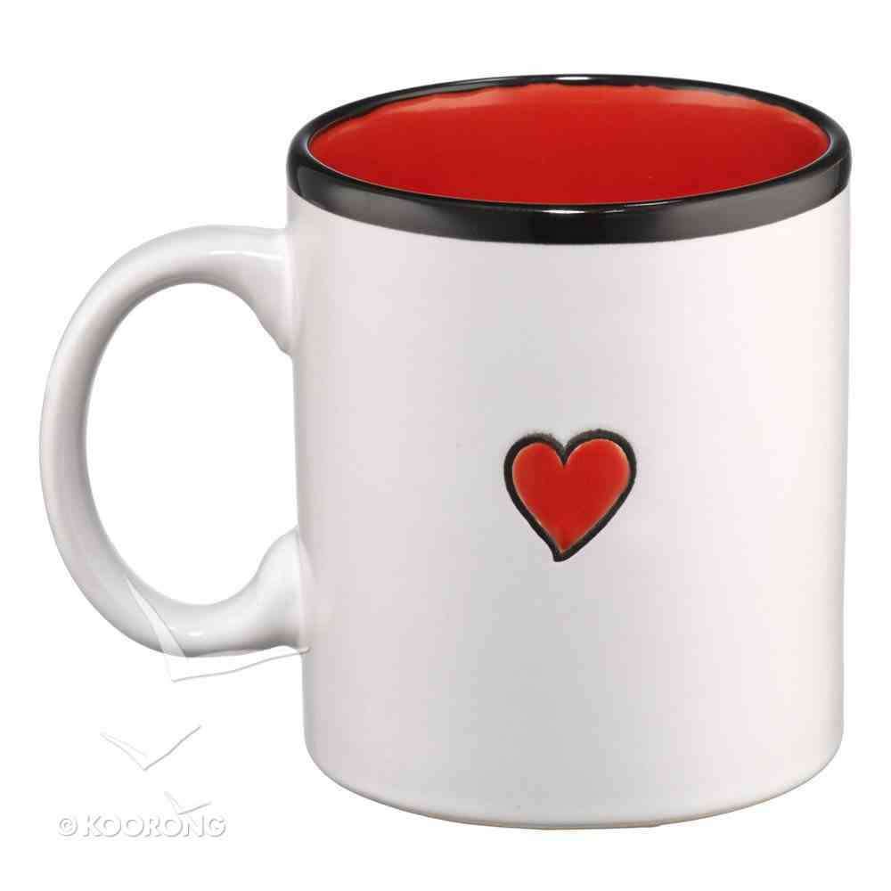 Inspirational Mug: Love White/Red Homeware