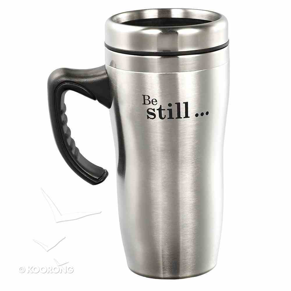 Stainless Steel Travel Mug With Handle: Be Still Homeware