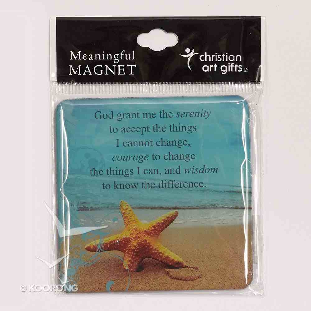 Meaningful Magnet: Serenity Starfish Novelty
