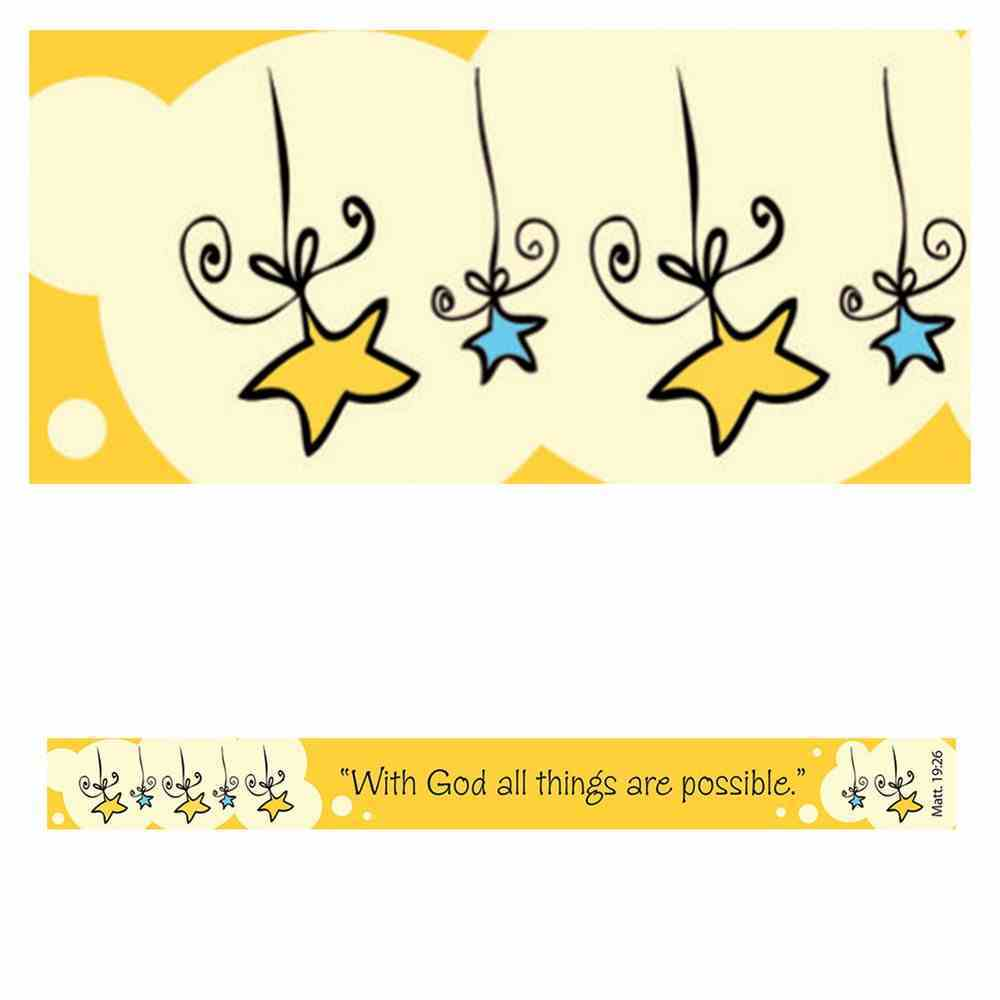Magnet Strip: With God All Things Are Possible (Matt 19:26) Novelty