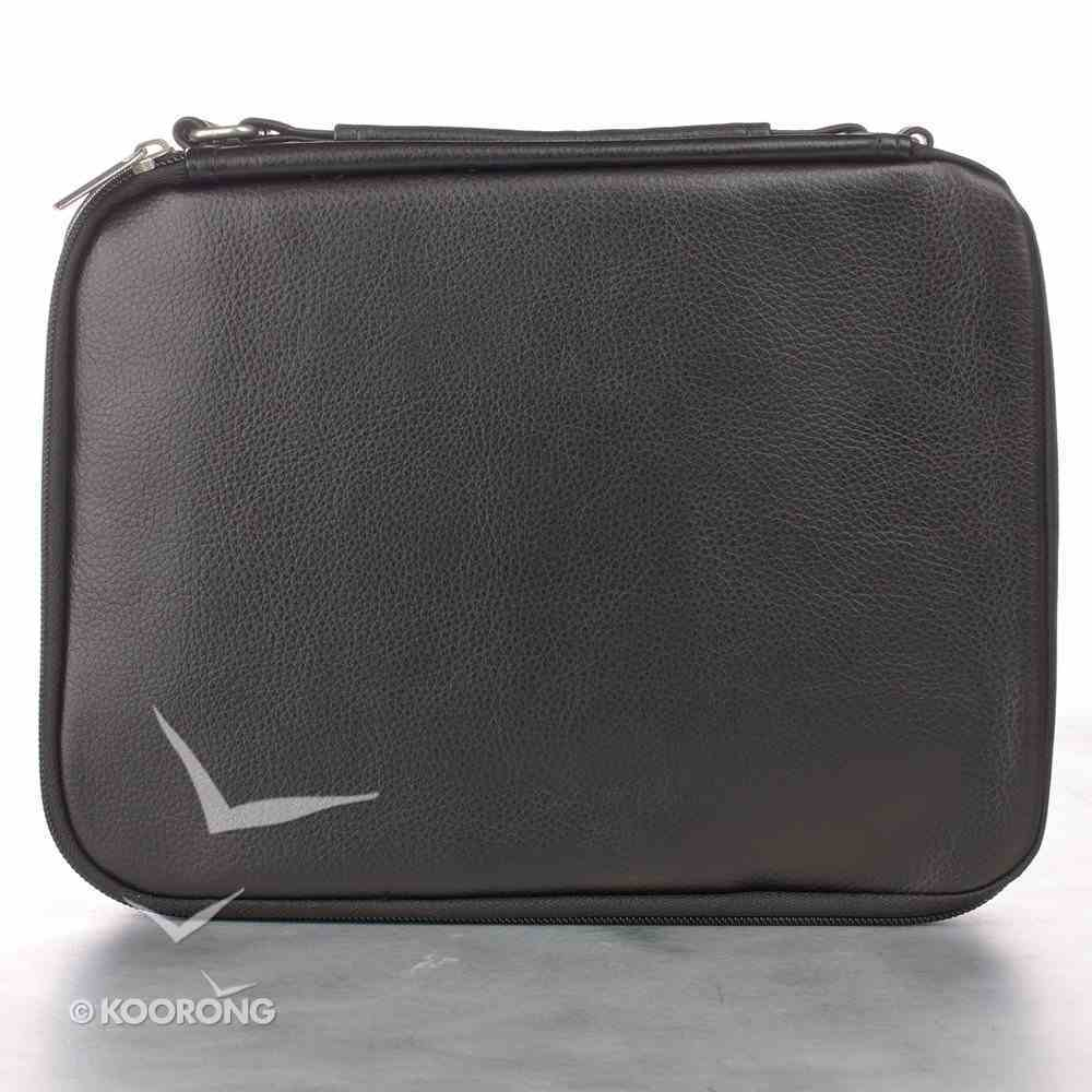 Bible Cover Large Two-Fold Luxleather Organizer Black Bible Cover