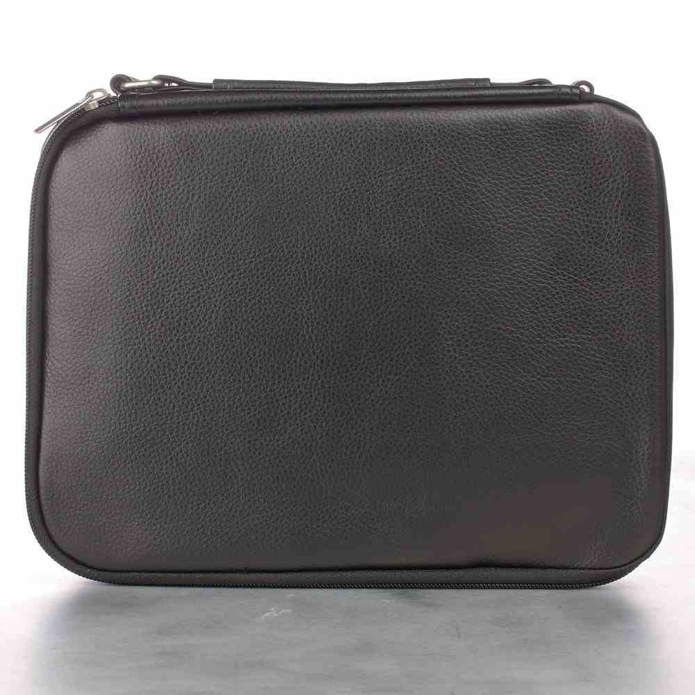 Bible Cover Medium Two-Fold Luxleather Organizer Black Bible Cover