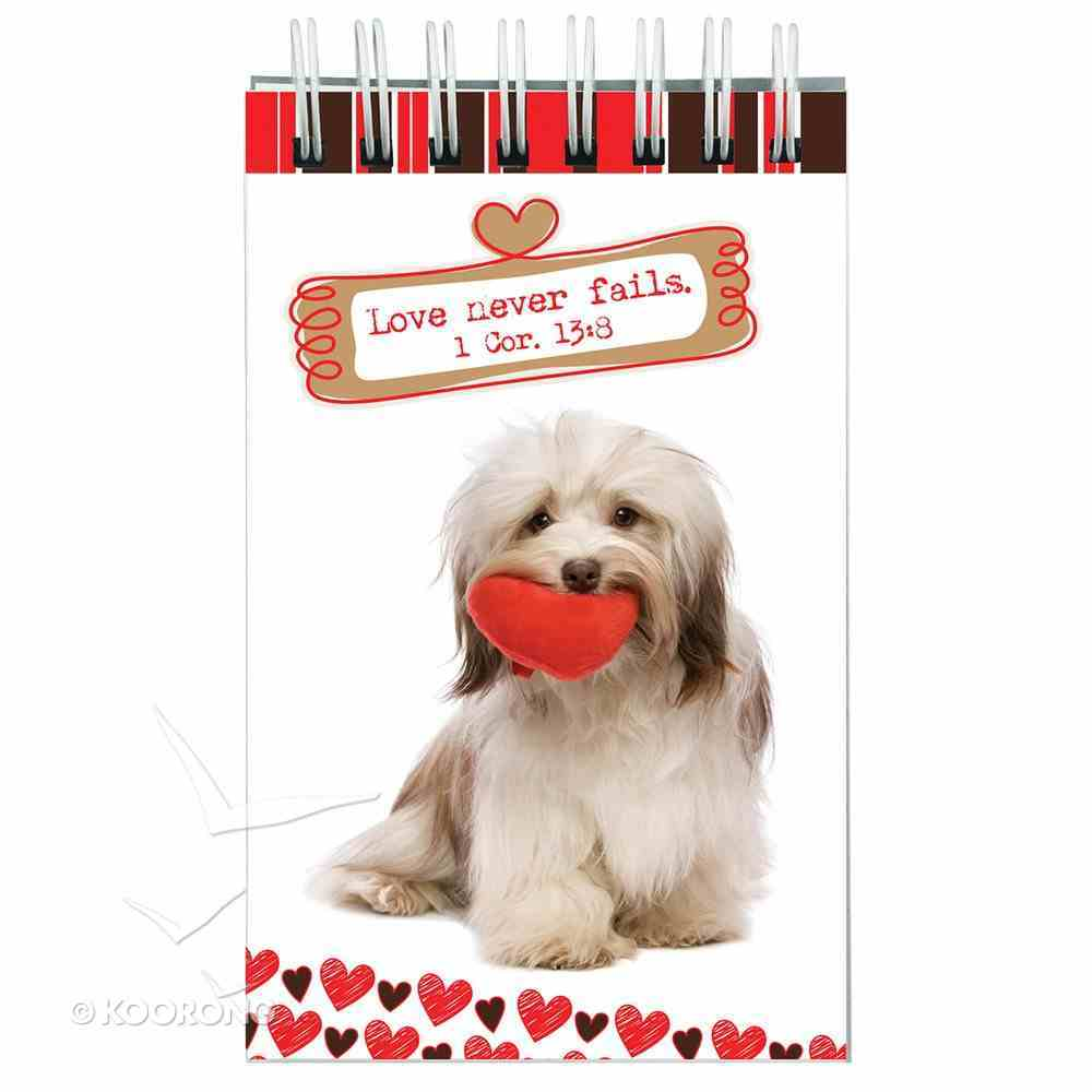 Notepad: Cute Animal With Hearts & Scripture Spiral