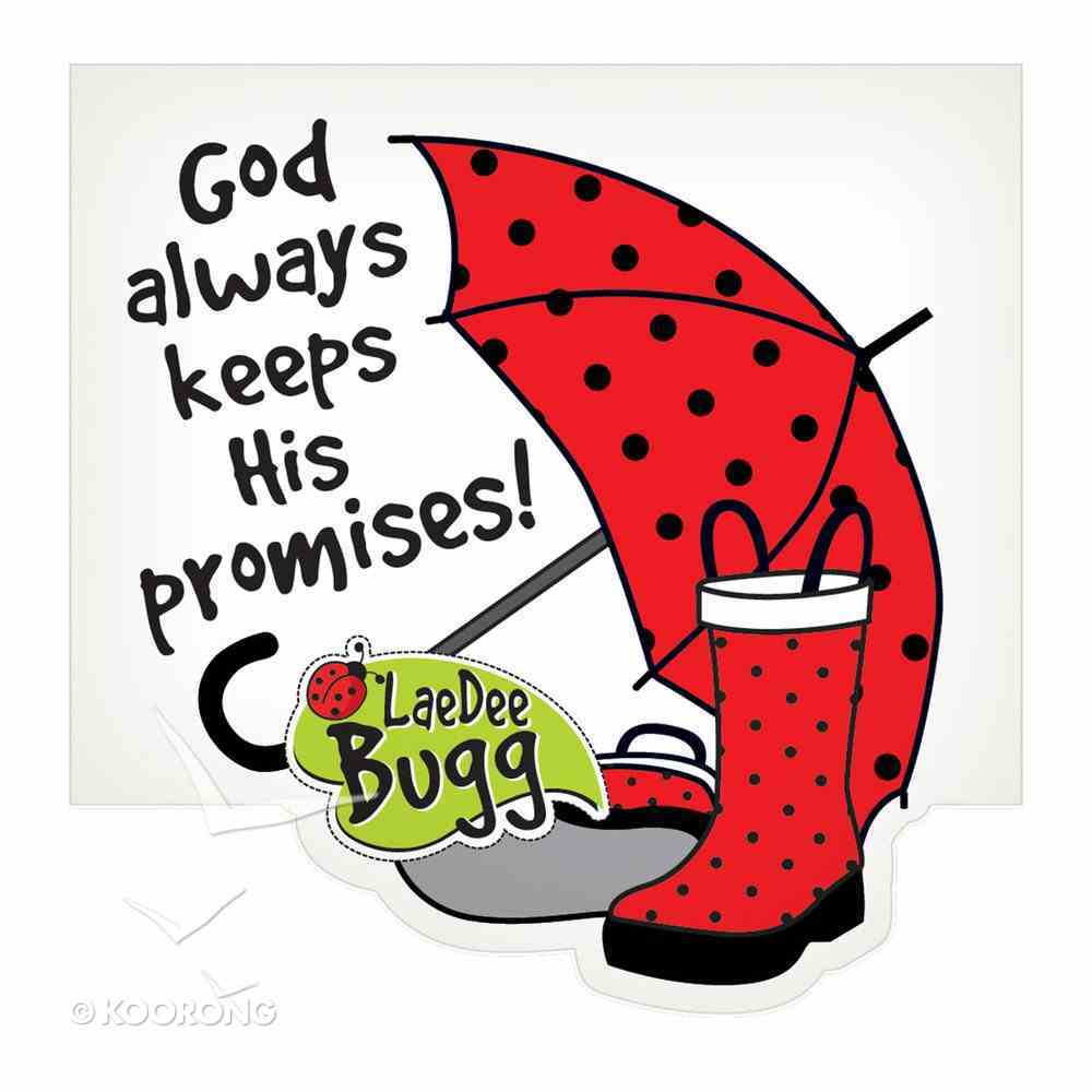 Notepad Die-Cut: Laedee Bugg God Always Keeps His Promises Stationery