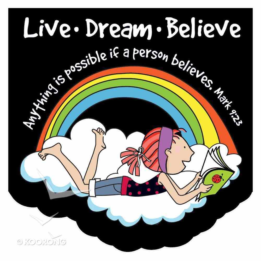 Notepad Die-Cut: Laedee Bugg Live.Dream.Believe Stationery