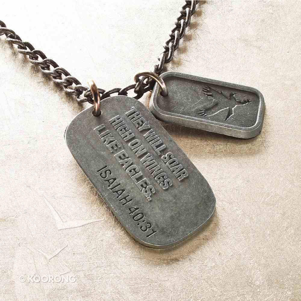 Dog Tag: On Eagles Wings, Isaiah 40:31 Jewellery