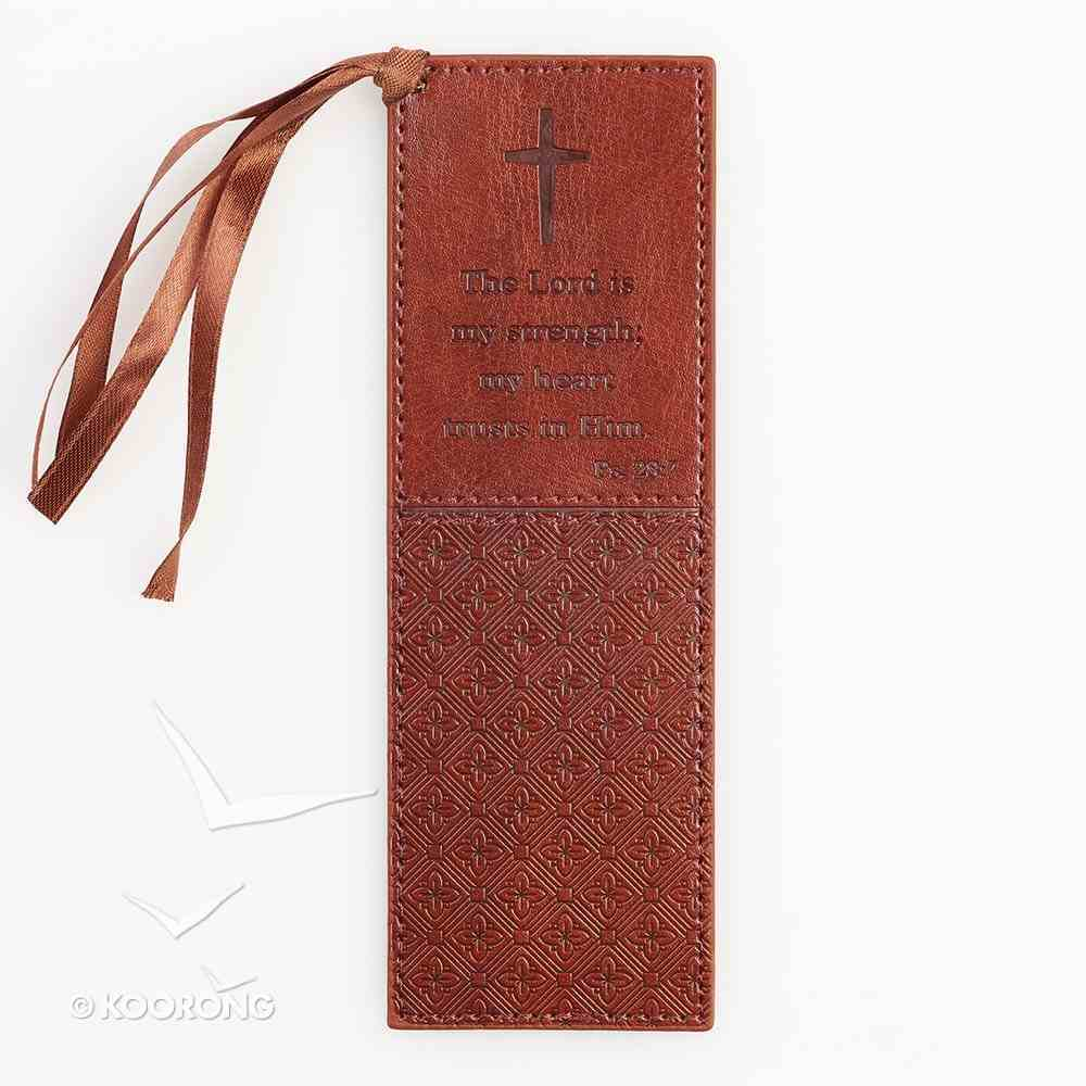 Bookmark: Lord is My Strength, the Luxleather Imitation Leather