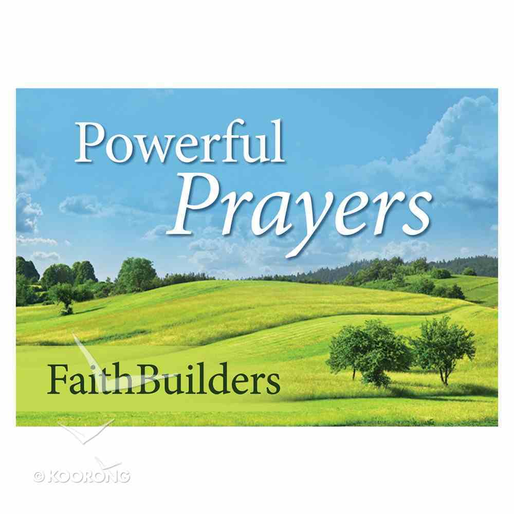 Faithbuilders: Powerful Prayers, Pack of 20 Cards (5 Each Of 4 Designs) Cards