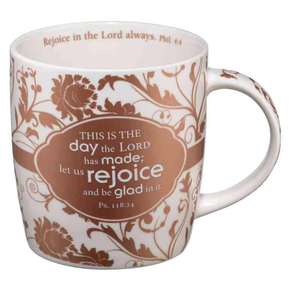 Ceramic Mug: This is the Day the Lord Has Made, Chocolate/White Homeware