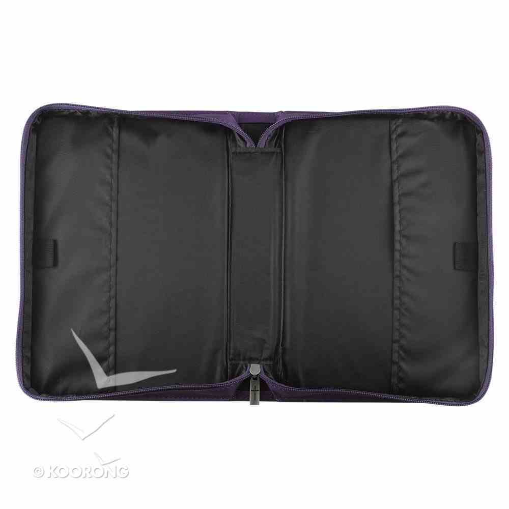 Bible Cover I Know the Plans Large: Jeremiah 29:11, Purple Imitation Leather