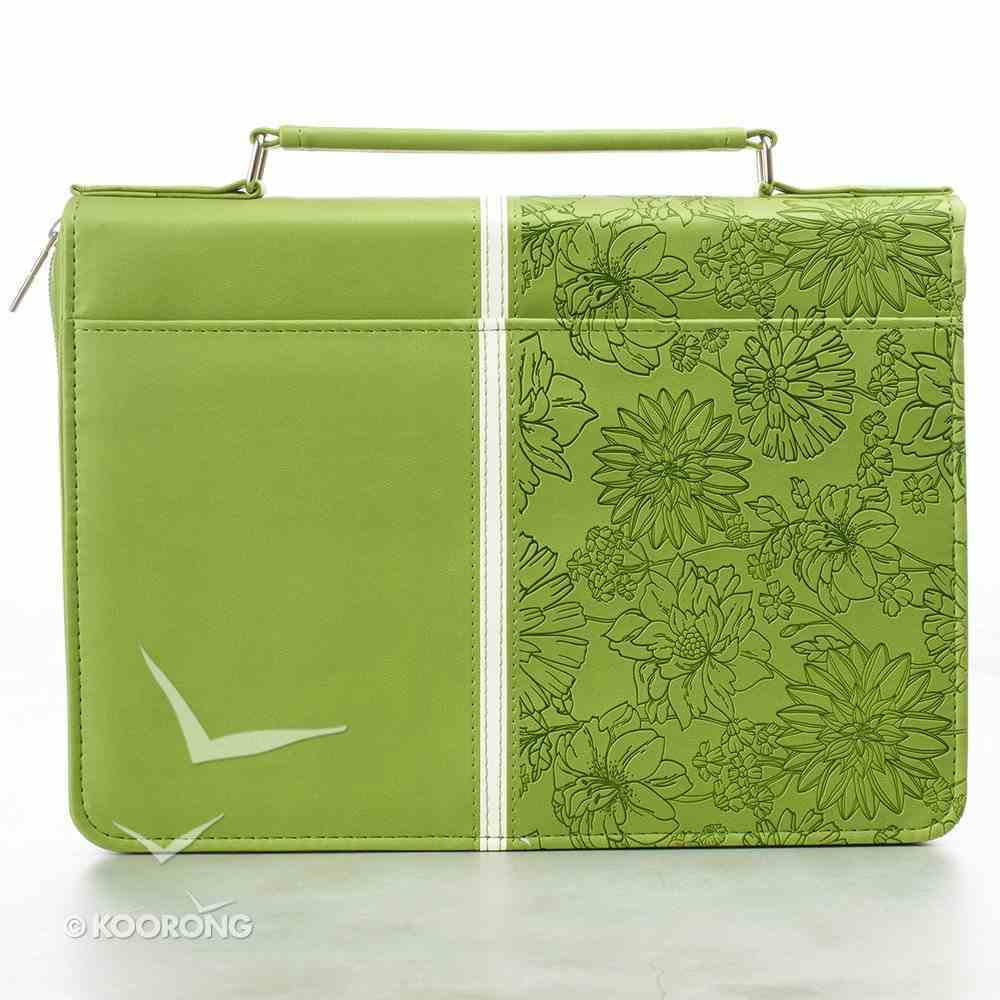 Bible Cover I Know the Plans Large: Jeremiah 29:11, Lime Luxleather Imitation Leather