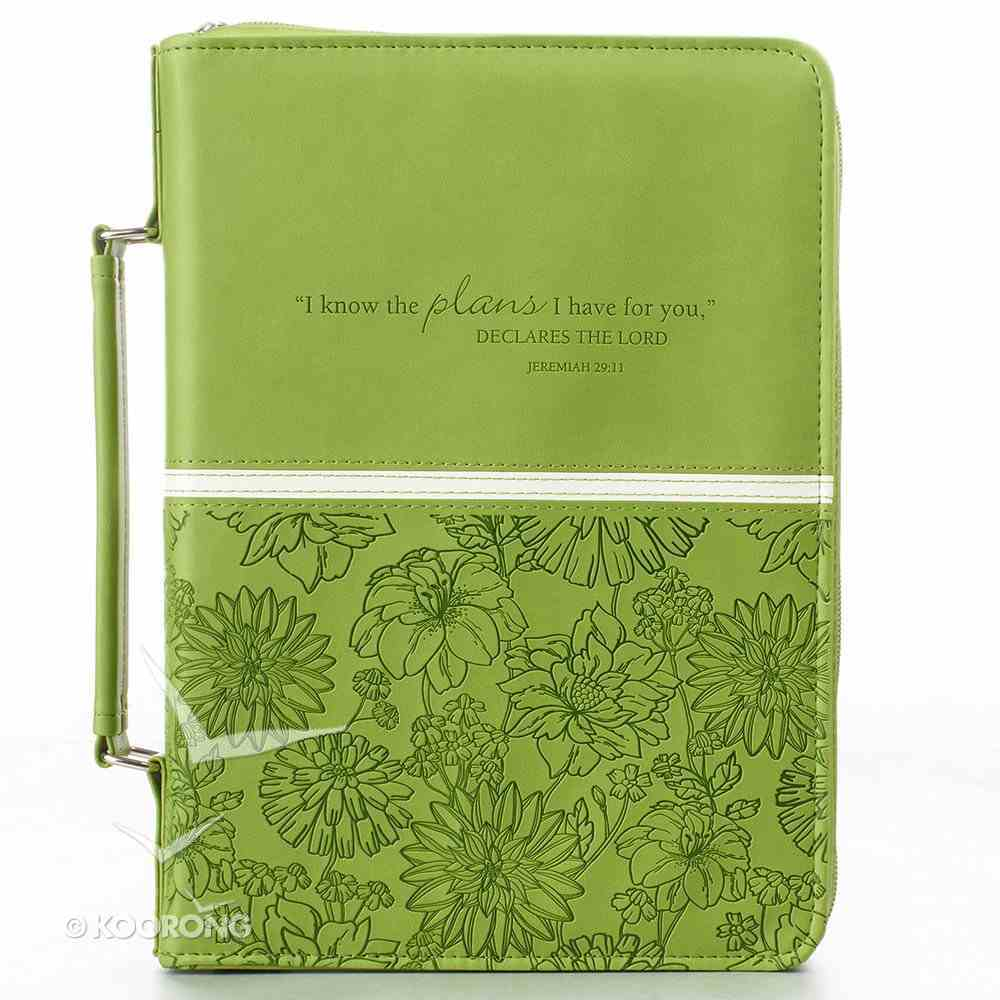Bible Cover I Know the Plans Medium: Jeremiah 29:11, Lime Imitation Leather