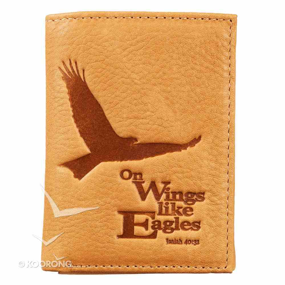 Mens Genuine Leather Wallet: On Wings Like Eagles Soft Goods