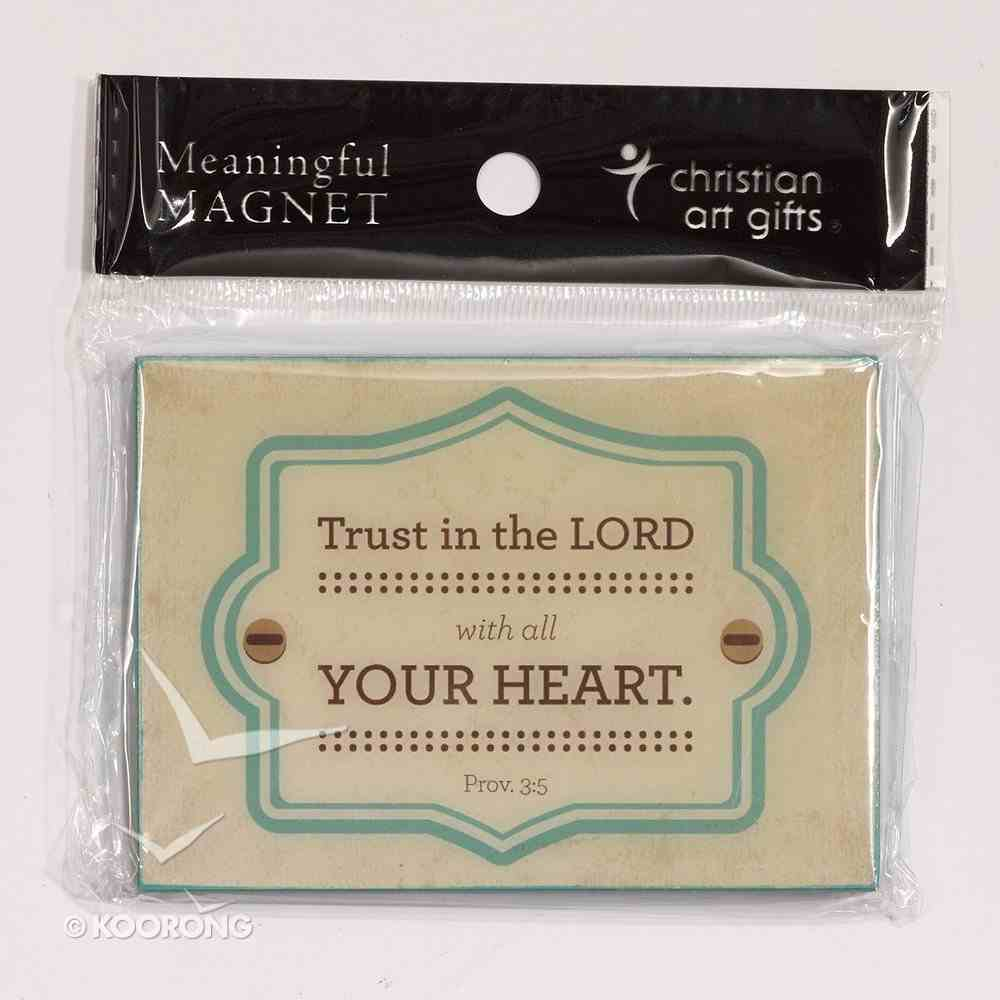 Magnet: Trust in the Lord Teal/Cream (Prov 3:5) Novelty