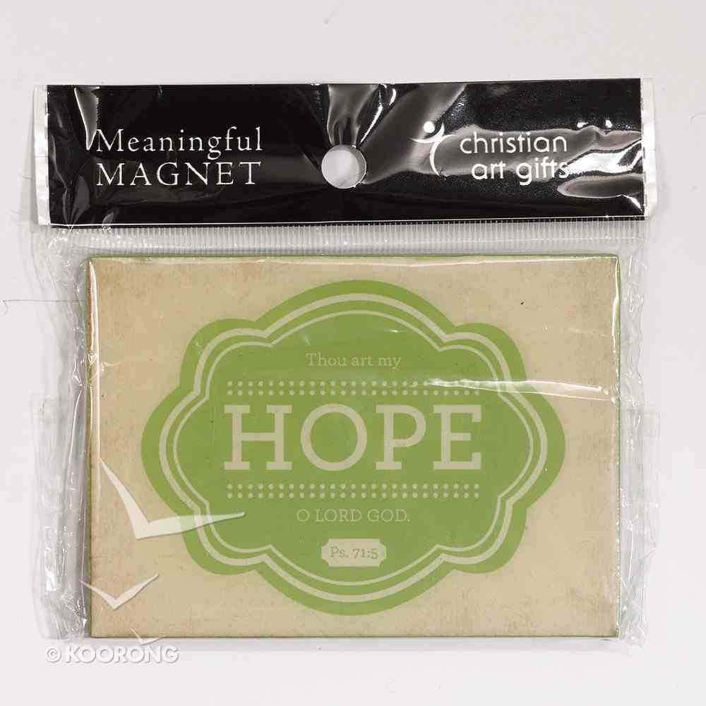 Magnet: Hope (Psalm 71:5) Novelty