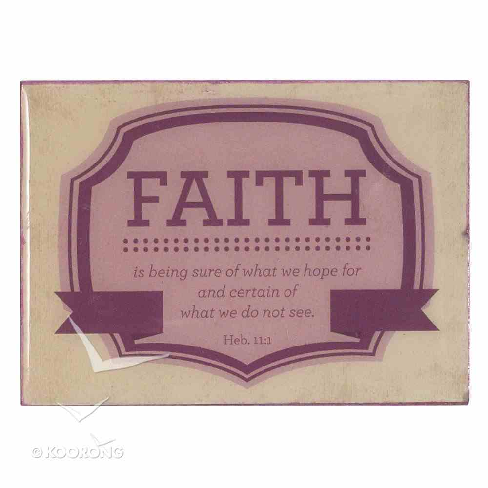 Magnet: Faith Pink/Cream (Heb 11:1) Novelty