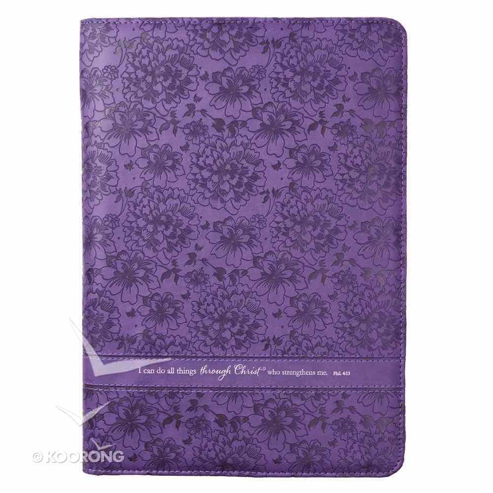 Folder: I Can Do All Things Philippians 4:13 Purple Luxleather Imitation Leather