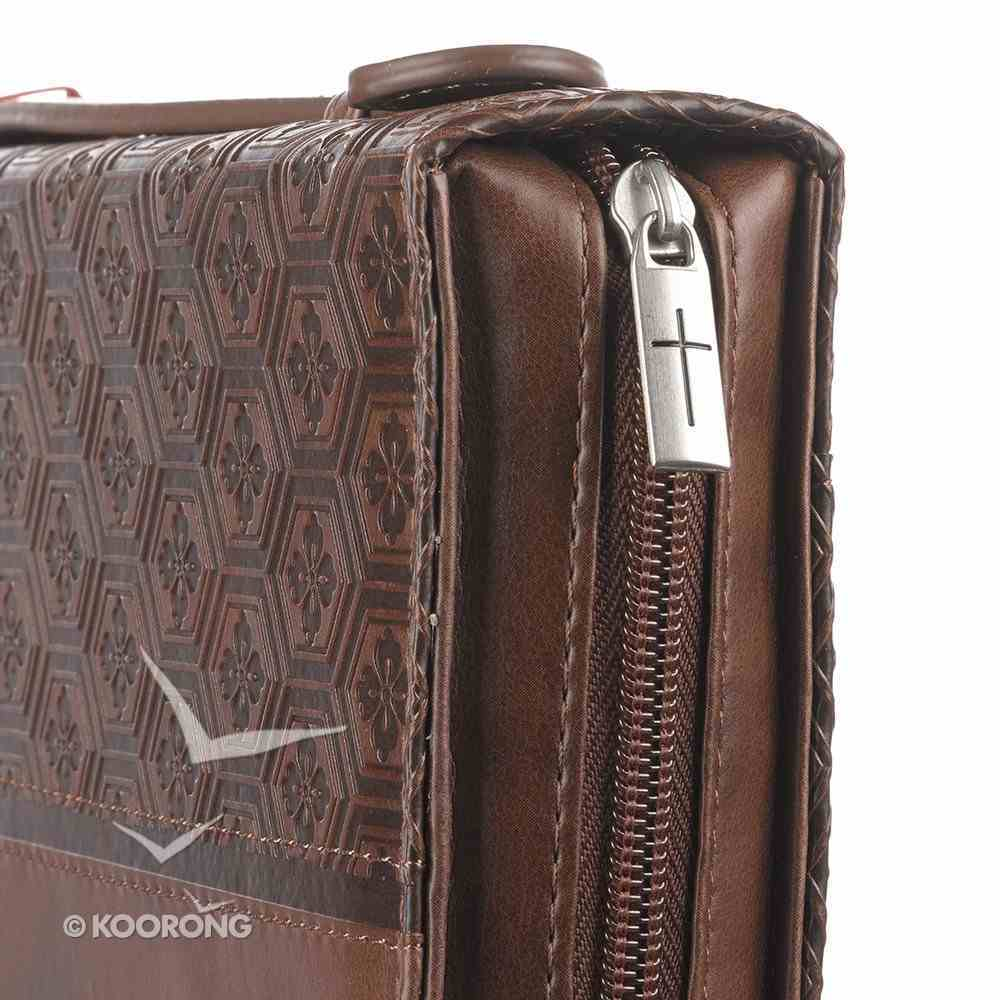 Bible Cover Classic Medium: Trust Prov 3:5, Brown Bible Cover