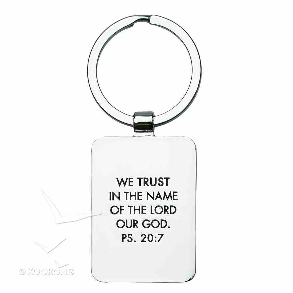 Metal Keyring: Keep Calm and Trust God Red Jewellery