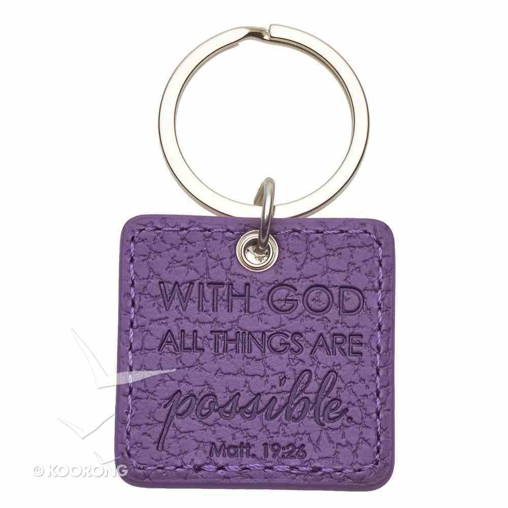 Luxleather Keyring With Charm: Faith Purple Jewellery